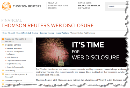 Thomson Reuters Web Disclosure